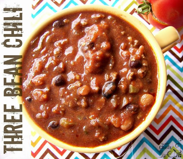 Three bean chili | Food | Pinterest