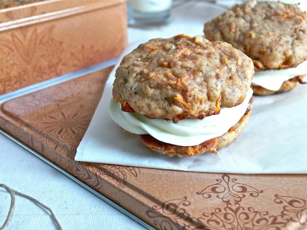 ... Carrot Cake Whoopie Pies filled with Ricotta Cream Cheese Frosting