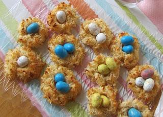 in Food: Coconut Macaroon Bird's Nests- Sweet and chewy coconut ...