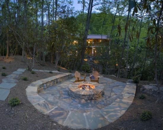 Sunken Backyard Fire Pit : Sunken firepit  Fire Pits & Outdoor Projects  Pinterest