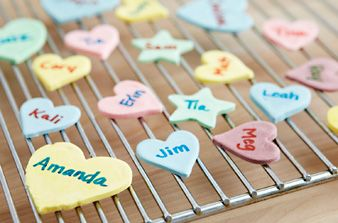 Homemade Conversation Hearts #handmade #conversationhearts