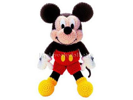 Mickey Mouse Amigurumi Crochet PDF Pattern in English