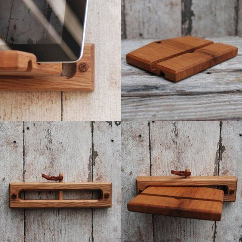 Beautiful iPad or minnie tablet Wall Stand...  handy mans low tech answer to the high tech world!