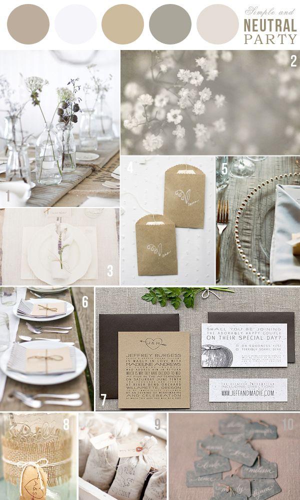 Colors neutral palette wedding inspirations pinterest for Neutral color scheme