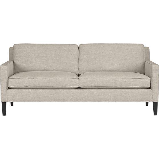 Vaughn Apartment Sofa  Crate and Barrel  Home Accents  Pinterest