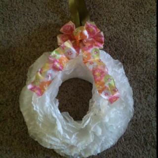 Coffee filter wreath   Craft   Pinterest