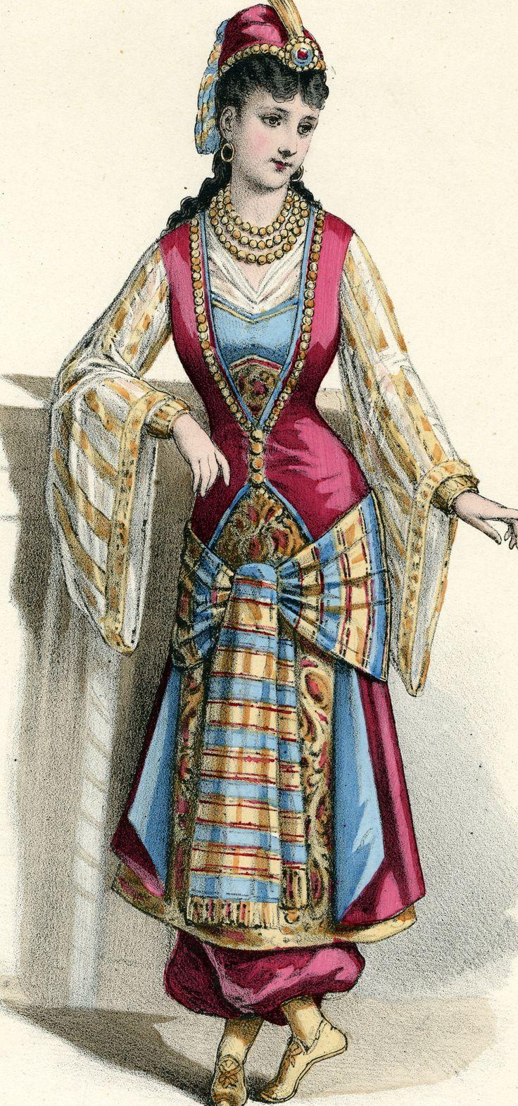 Simple Ottoman Empire 1800  Osmanlida Kiyafet  Pinterest  Woman Clothing