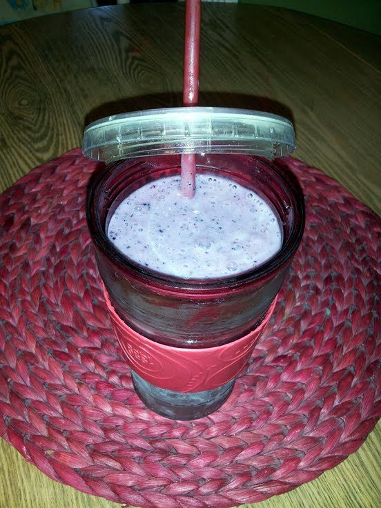 "Banana Blueberry smoothie! ""Very yummy and healthy!!"" @allthecooks ..."
