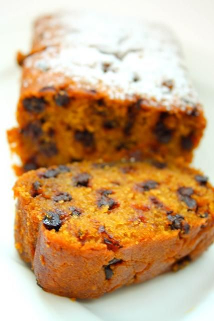 pumpkin chocolate chip bread..for october