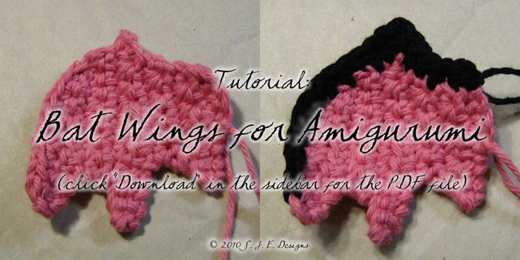 Amigurumi Wings : Bat Wings for Amigurumi by mnemosynestar Free Crochet ...