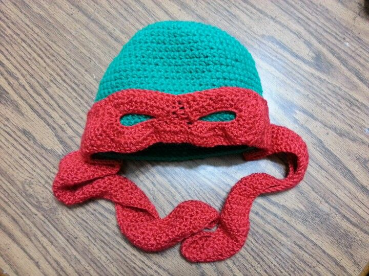 Crochet Pattern For A Turtle Hat : Ninja Turtle crochet hat. 2012 Things I have made ...