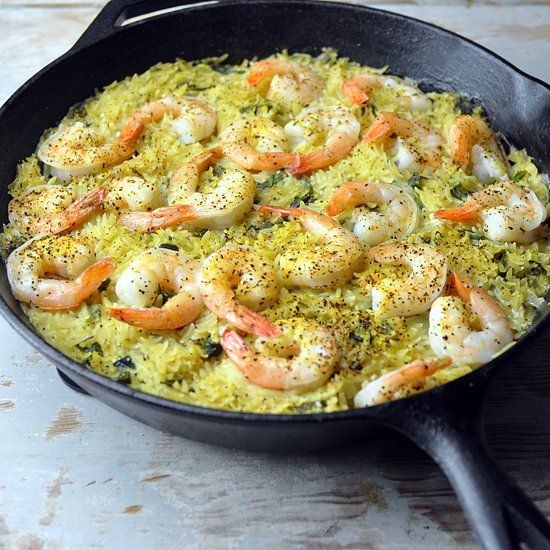 Lemon Orzo Shrimp Skillet. Perfect for a weeknight. Tastes like a ...