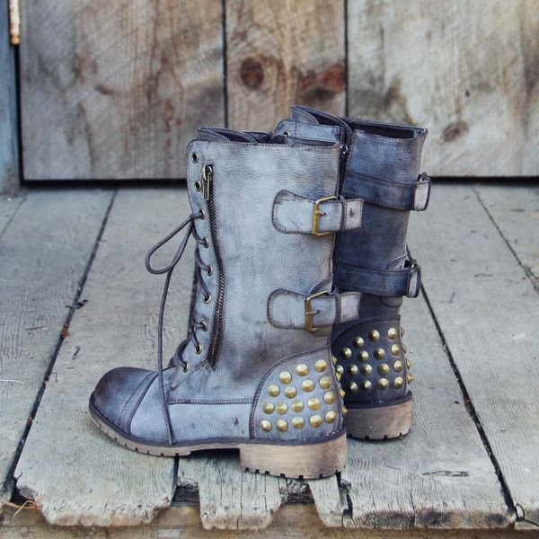 The Aberdeen Studded Combat Boots