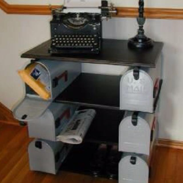 Repurposed mailboxes | Furniture Projects | Pinterest