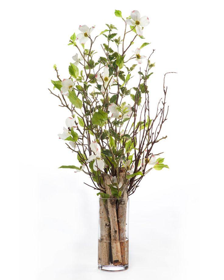 Dogwood branch birch silk arrangement