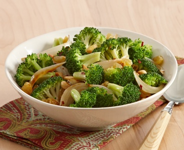 ... Garlic, and Broccoli Saute with Golden Raisins #sides #chicken #