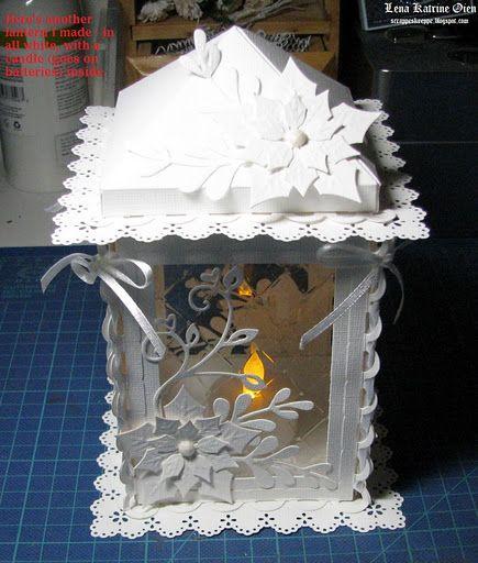 Новогодний фонарик своими руками из картона