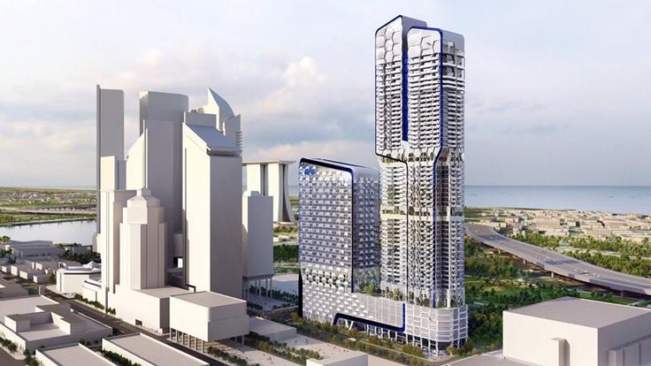 Dutch architecture firm UNStudio has designed a skyscraper for Singapore that looks like a plant.