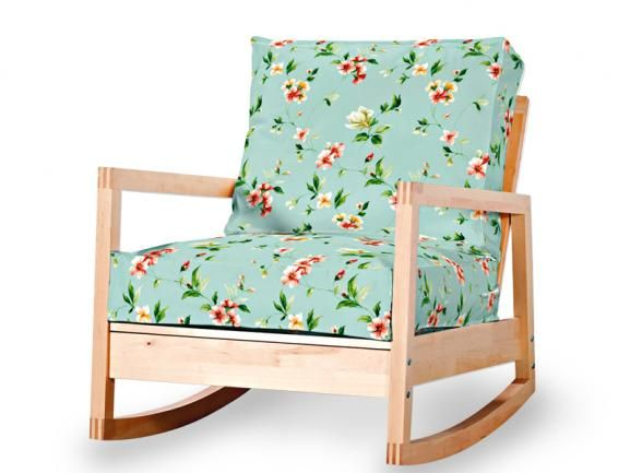 Ikea lillberg rocking chair with flower cushions love the lillberg