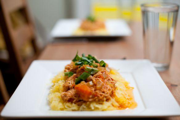 Buffalo Chicken on spaghetti squash | Attempt to Paleo | Pinterest
