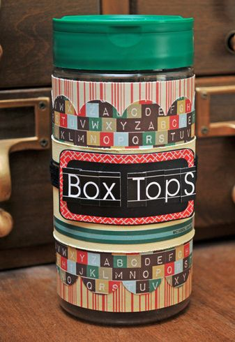 Box Tops Jar by SarahA