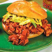 Chicken Barbecue and Slaw Sandwiches | Recipe