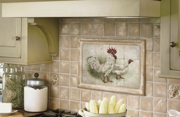Cool Tile Backsplash Mural My French Country Kitchen Pinterest