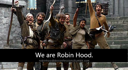 We are Robin Hood! Will's pose made me laugh so hard....