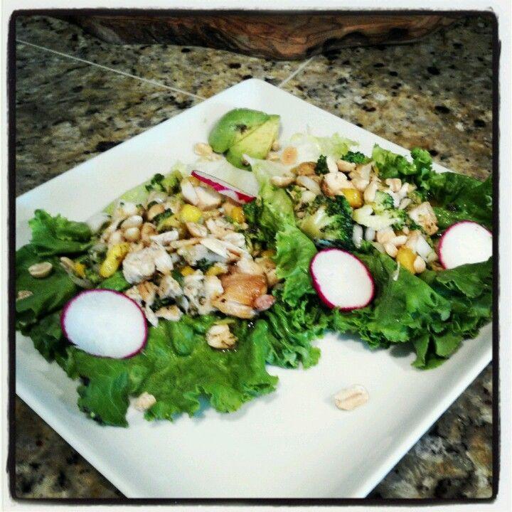 Thai chicken mango lettuce wraps | Foods I want to make | Pinterest