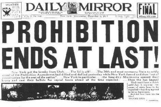 """: Prohibition Paper Poster Printed On 20"""""""" X 30"""""""" Semi-Gloss Paper ..."""