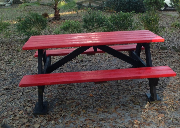 Painted Old Picnic Table Summer Ideas Pinterest