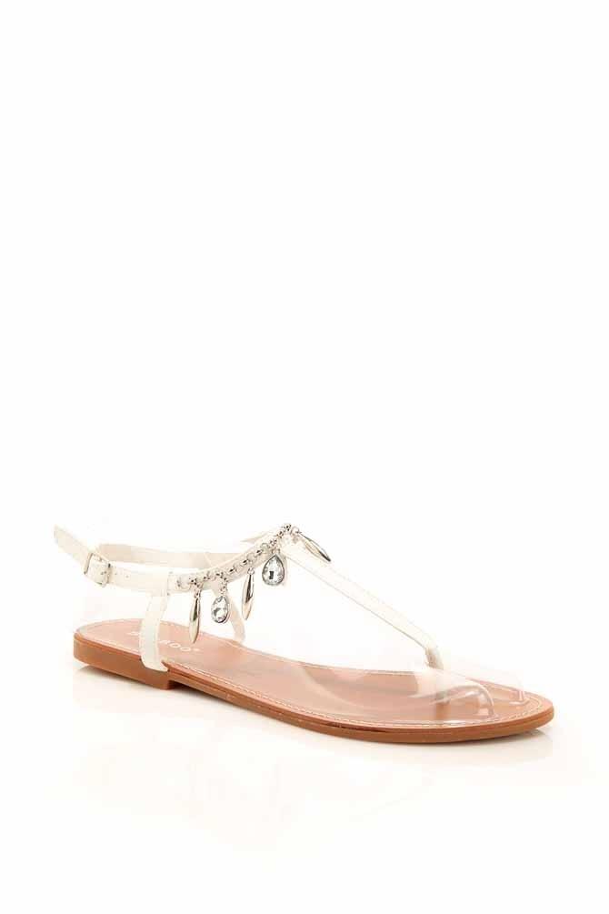 Gem T Strap Charm Sandals @ Cicihot Sandals Shoes online store sale