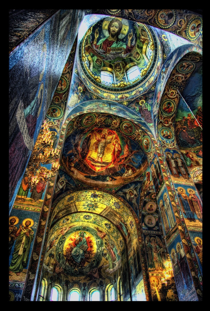 The Church of the Savior on Spilled Blood (Храм Спаса на Крови;) St. Petersburg, Russia  The Church contains over 7500 square metres of mosaics.  The Blood and Tears HDR II by ISIK MATER            (via landscapelifescape)