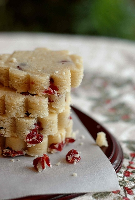 Dried Cranberry Shortbread Cookies