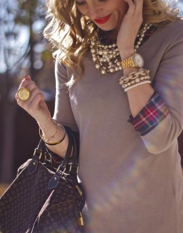 Camel, Plaid & Pearls