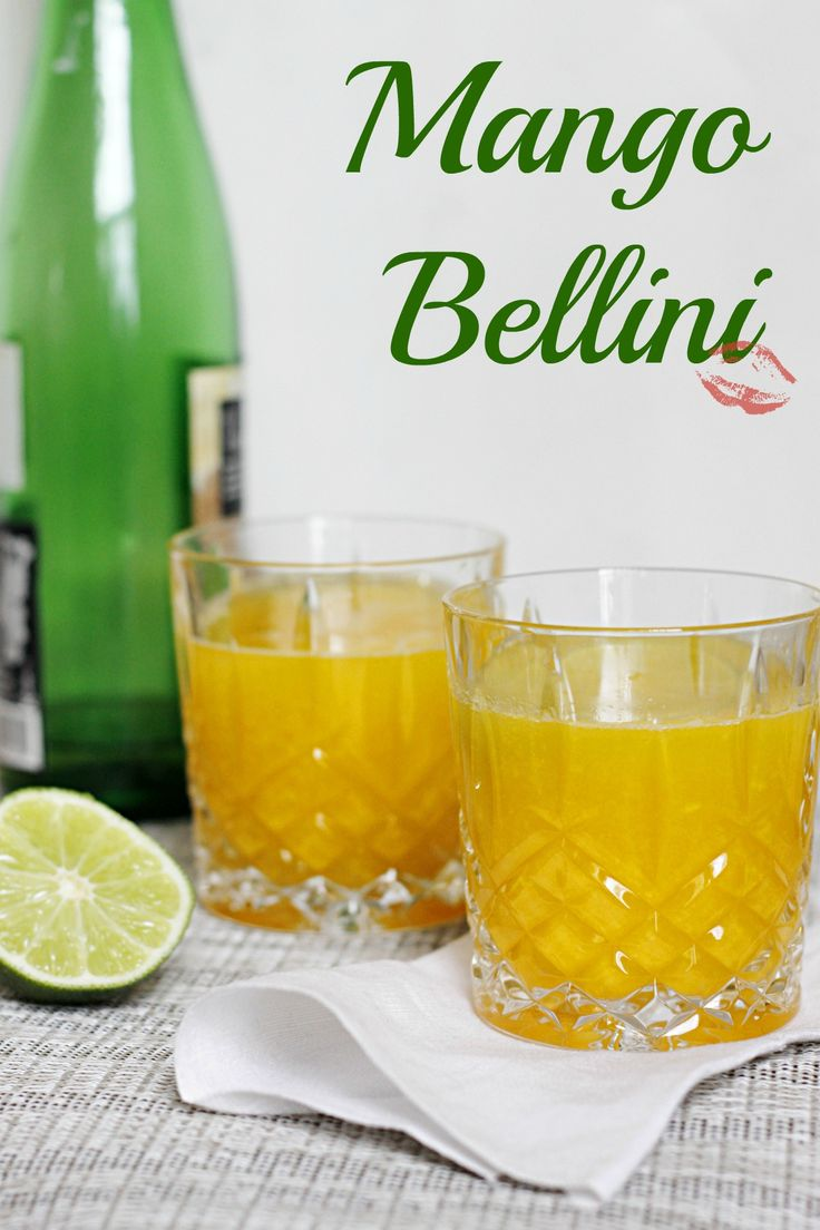 Mango Bellini ~ Mango and Sparkling wine come together to create a ...