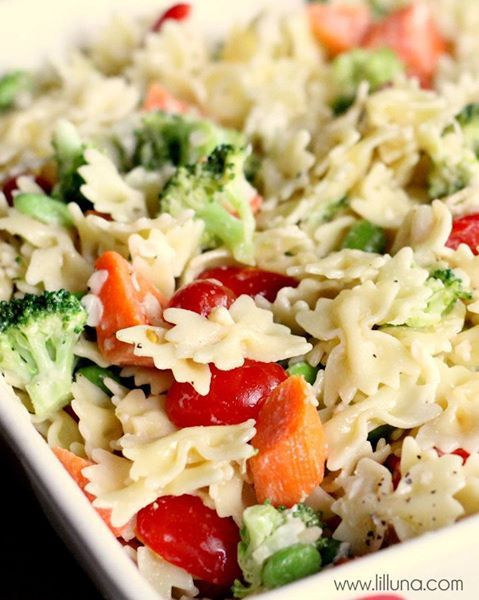 bow tie pasta salad yum