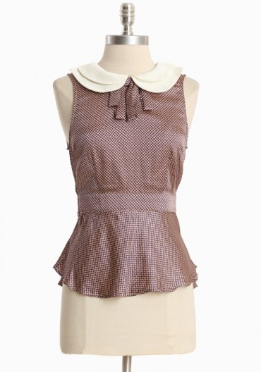 Gwendolyn Double Collar Top | Modern Vintage Tops