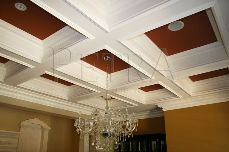 coffered ceiling ceiling design pinterest