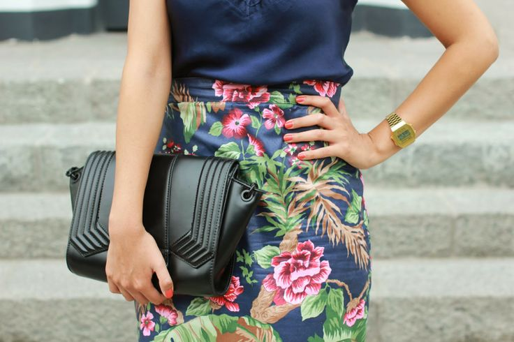 lamodadicta: cami top + floral pencil skirt