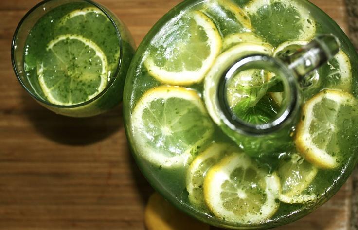 Organic Honey Basil Lemonade | jucing and smoothies | Pinterest