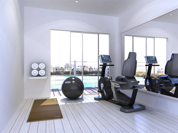 Nice small gym space very clean rooms home pinterest