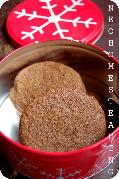 gingersnap cookies w/ butter, molasses, egg, date sugar, maple ...
