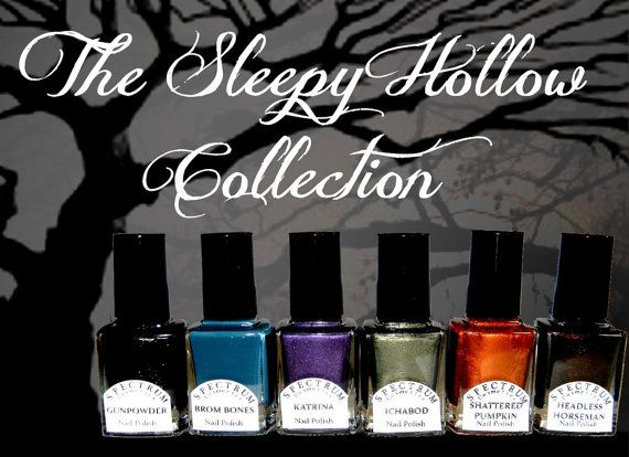 SLEEPY HOLLOW Nail Polish Collection 6 Full by SpectrumCosmetic, $48.00