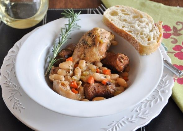 Braised Chicken with Sausage & Beans | food | Pinterest