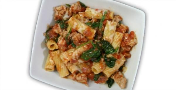 Baked Penne with Chicken Sausage and Kale | KitchenDaily.com -- Will ...