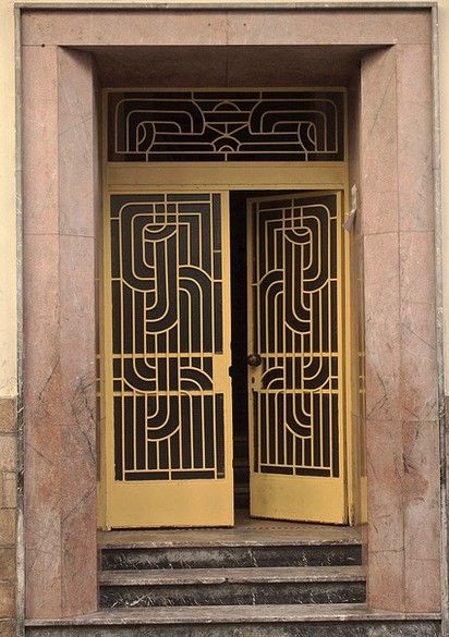 art deco door open sesame pinterest