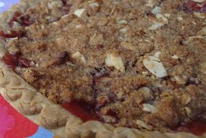 Almond Streusel-Cherry Cheesecake Bars Recipe — Dishmaps