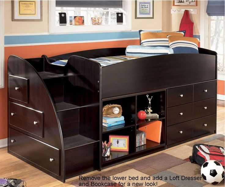 Low Loft Bed For 3 Boys Beds Pinterest