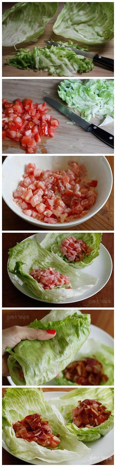 BLT Lettuce Wraps | Favorite Food Bloggers! | Pinterest
